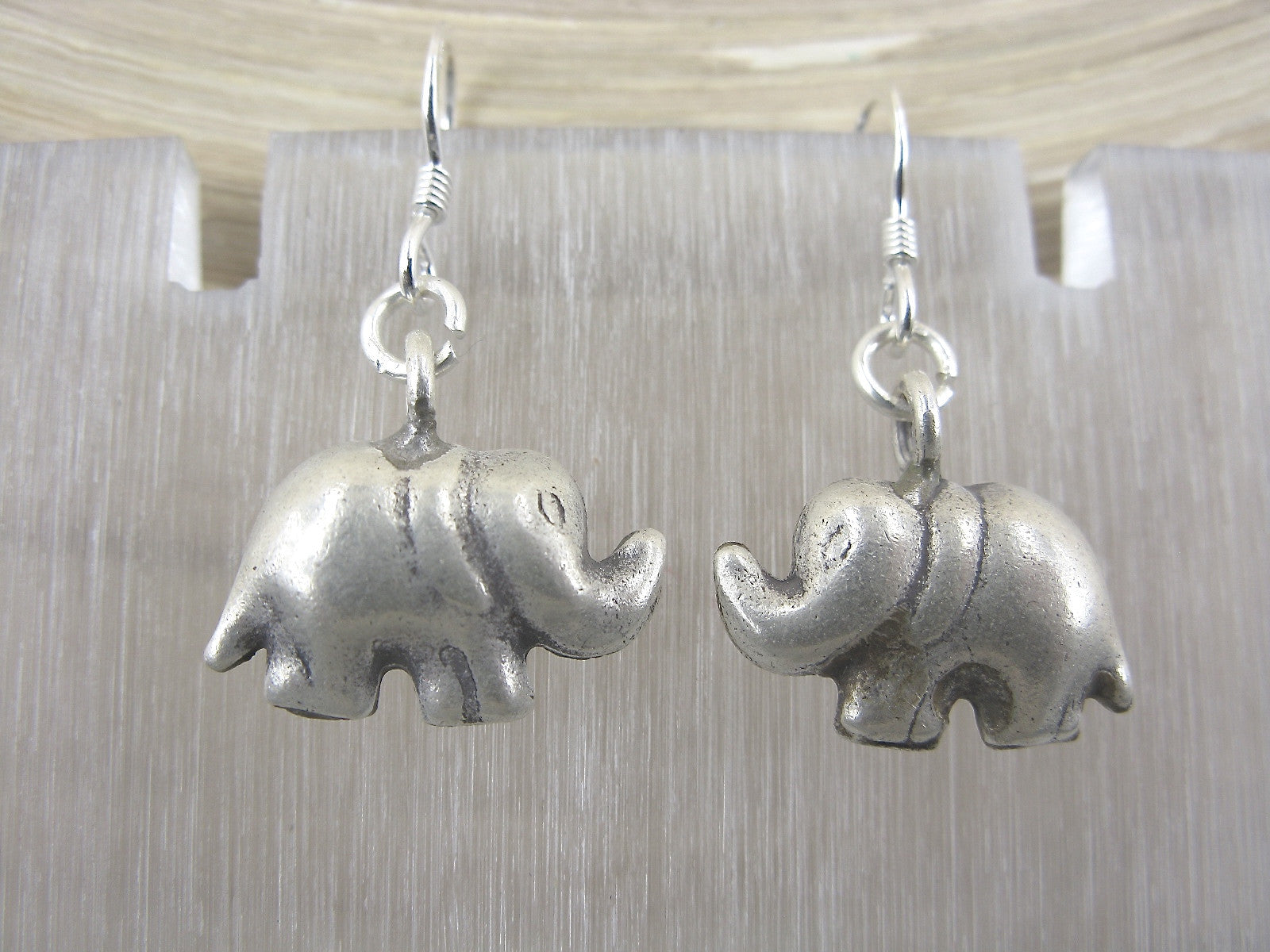 Elephant Tribal Dangle Earrings 925 Sterling Silver Earrings Earrings Faith Owl - Faith Owl