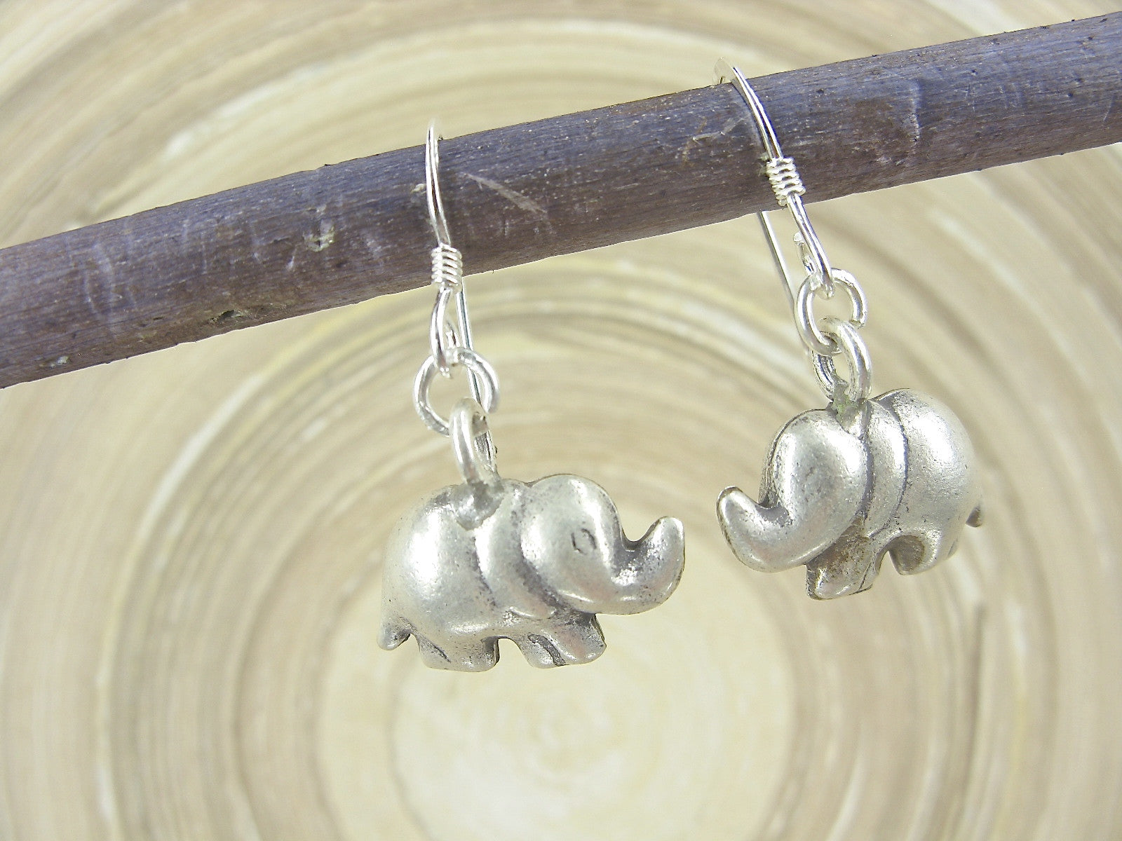 Elephant Tribal Dangle Earrings 925 Sterling Silver Earrings Earrings - Faith Owl