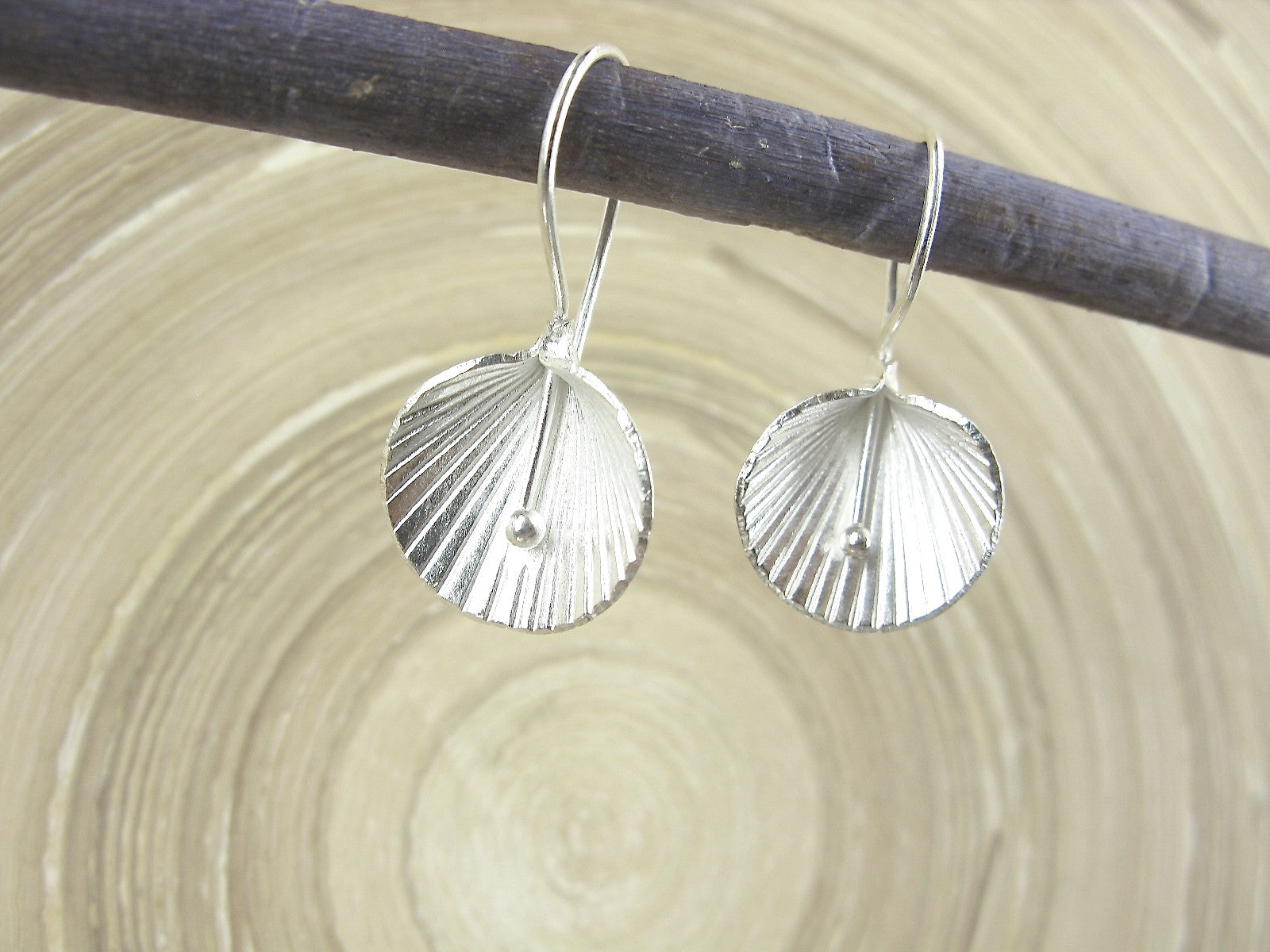 Lotus Leaf Tribal 925 Sterling Silver Ear Wire Earrings – Faith Owl