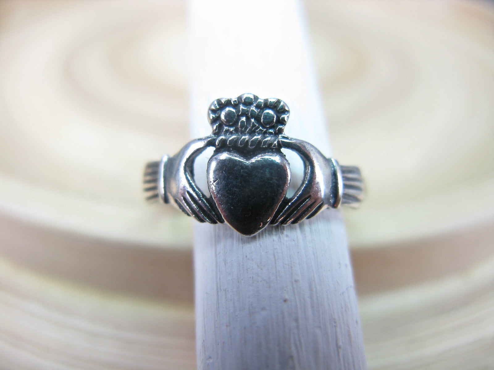 Claddagh Ring in 925 Sterling Silver Ring - Faith Owl