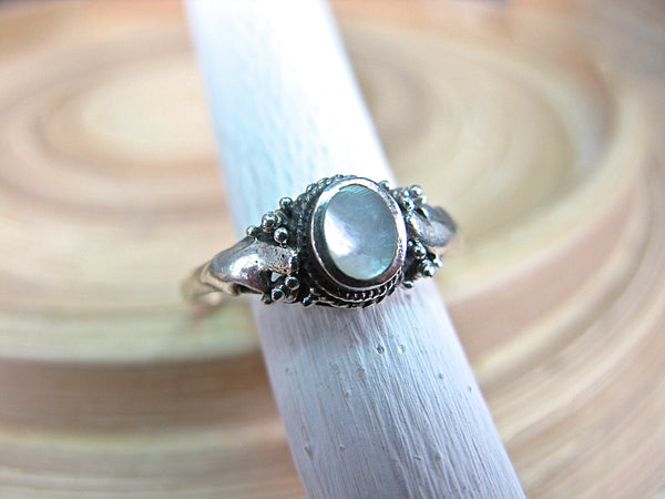 Mother of Pearl Ring Bohemian Jewelry in 925 Sterling Silver Ring Faith Owl - Faith Owl