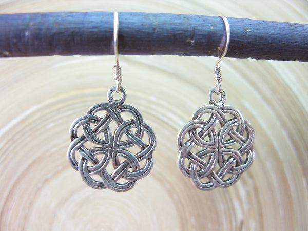 Celtic Knot Filigree Oxidized Dangle 925 Sterling Silver Earrings Earrings - Faith Owl
