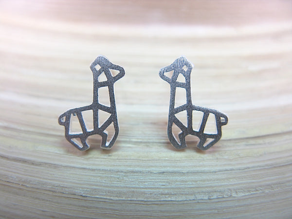 Alpaca Filigree Stud Earrings in 925 Sterling Silver Stud - Faith Owl