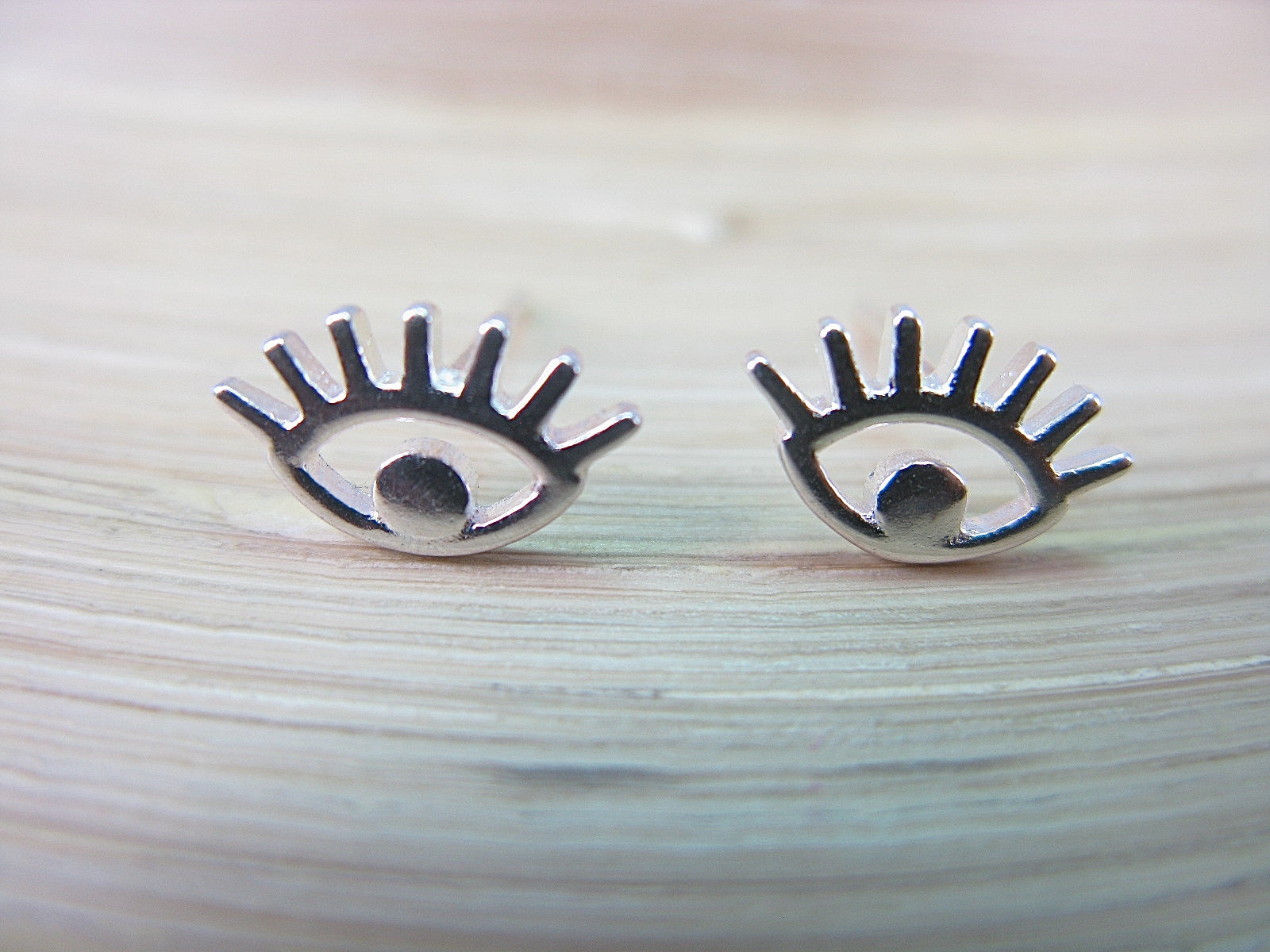 Eye Stud Earrings in 925 Sterling Silver Stud - Faith Owl