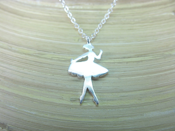 Ballet Dancer Necklace in 925 Sterling Silver Necklace - Faith Owl