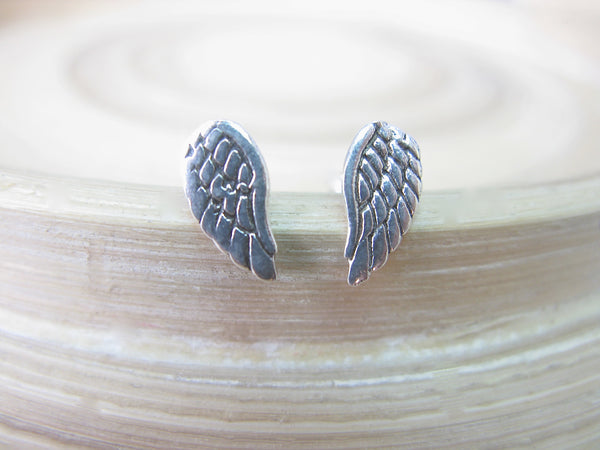Angel Wings 925 Sterling Silver Stud Earrings