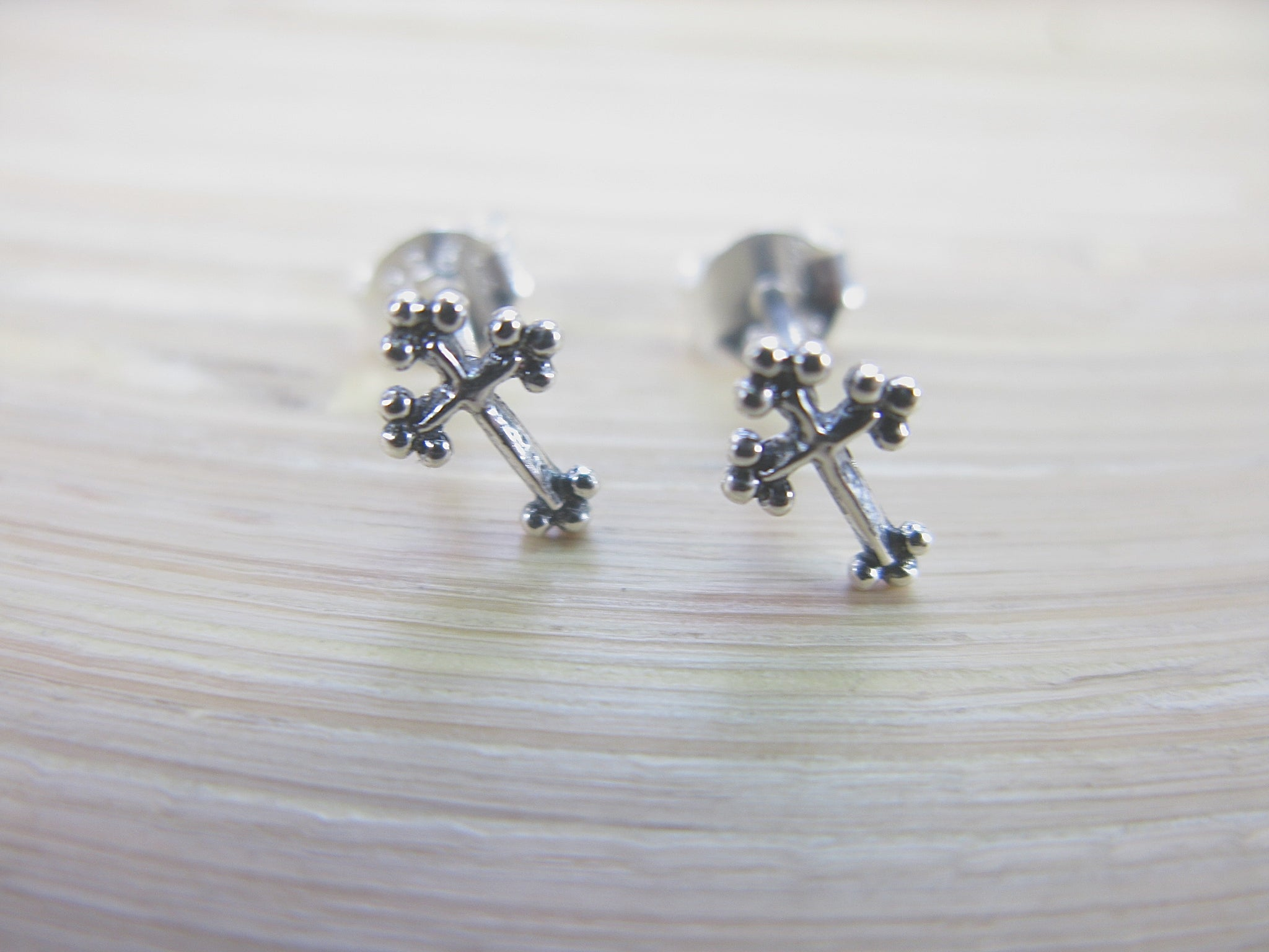 Cross 925 Sterling Silver Stud Earrings