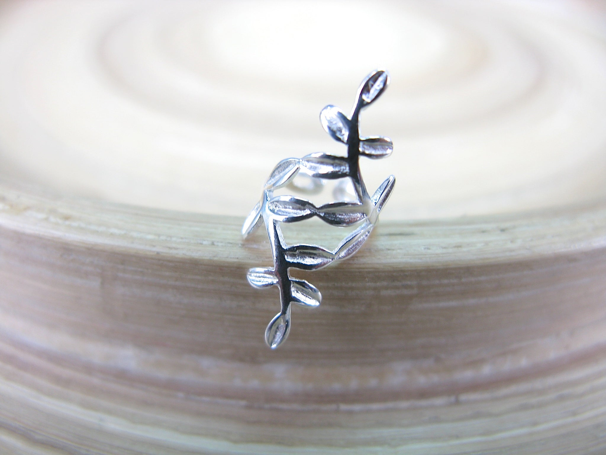 Leaf Branch 925 Sterling Silver Ear Cuff