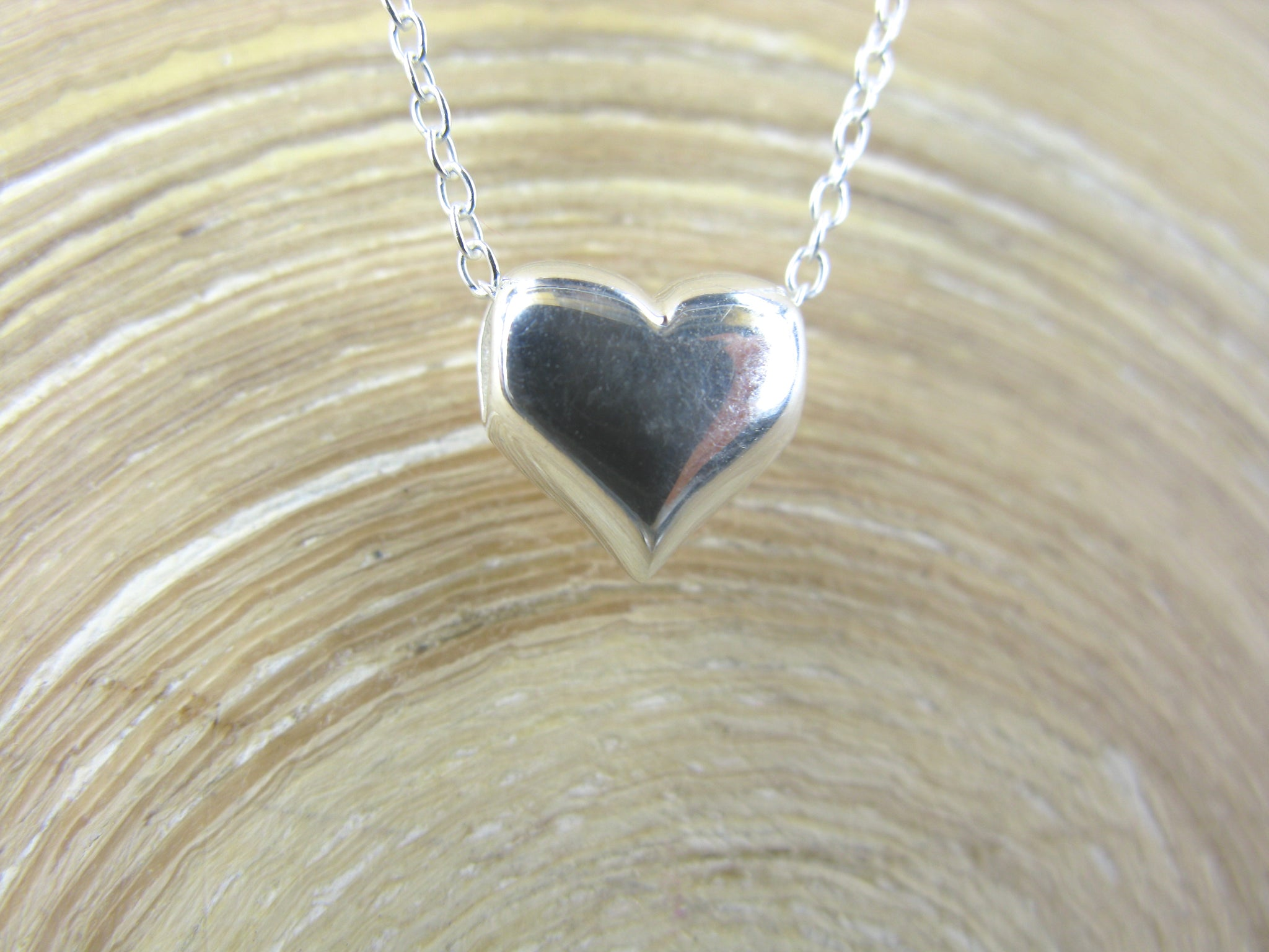 3D Heart Pendant Necklace in 925 Sterling Silver