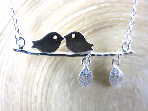 Birds Pendant Necklace in 925 Sterling Silver