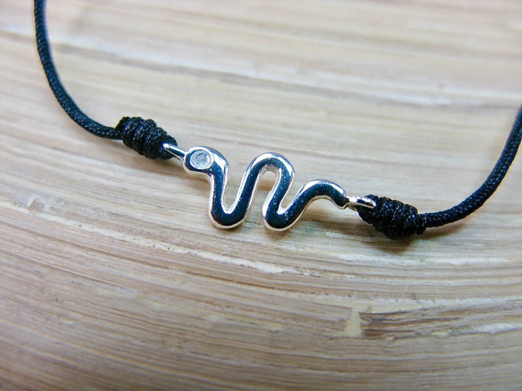 Snake 925 Sterling Silver Adjustable String Bracelet
