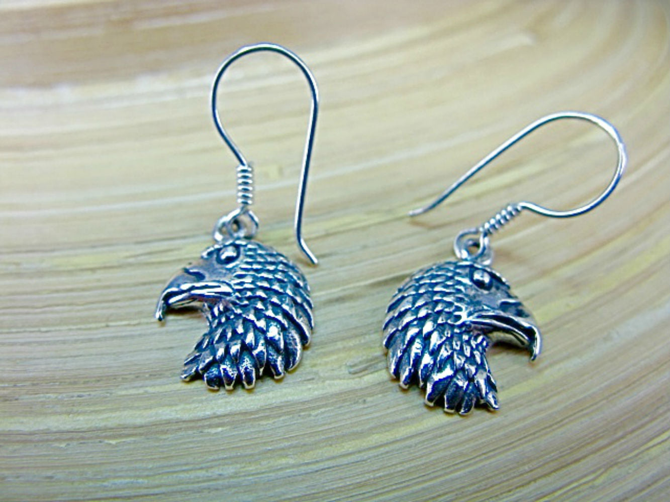 Eagle Dangle Earrings in 925 Sterling Silver