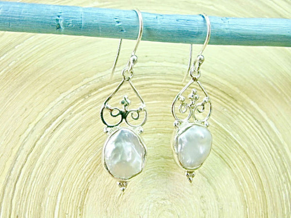Balinese Filigree Mother of Pearl 925 Sterling Silver Earrings