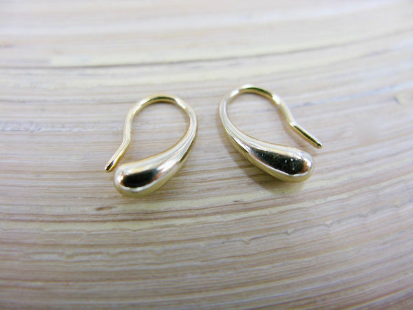 Bean Gold Plated 925 Sterling Silver Earrings
