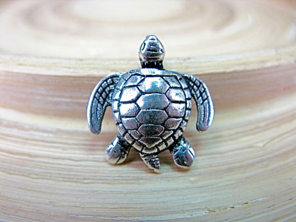 Turtle 925 Serling Silver Pendant Chain Necklace