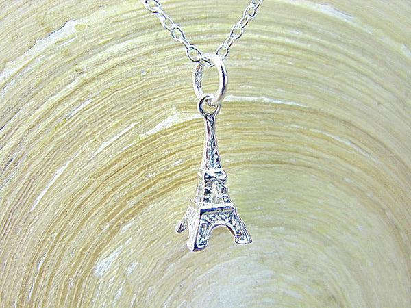 3D Eiffel Tower 925 Sterling Silver Pendant