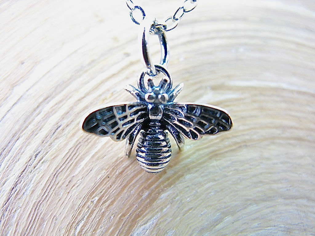Fly Insect 925 Sterling Silver Pendant Necklace