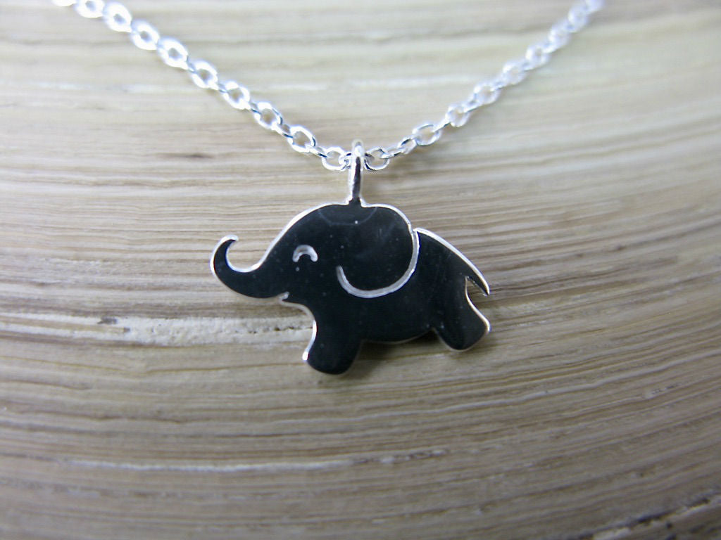 Elephant Pendant Chain Necklace in 925 Sterling Silver