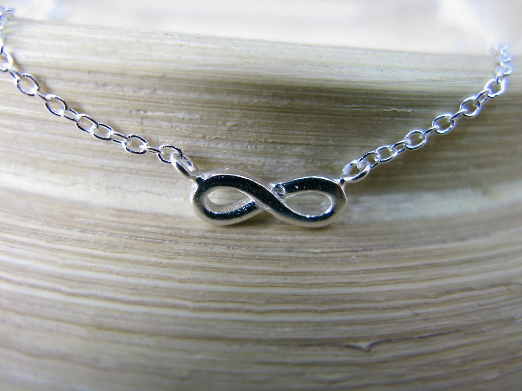 Infinity 925 Sterling Silver Pendant Chain Necklace