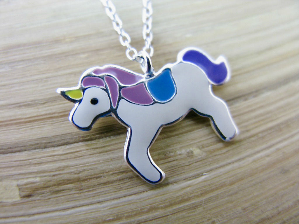 Unicorn 925 Sterling Silver Pendant Chain Necklace