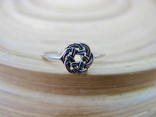 Celtic Filigree Oxidized Ring in 925 Sterling Silver