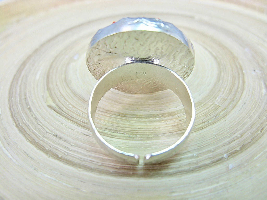 Fabric Handmade Round 925 Sterling Silver Ring