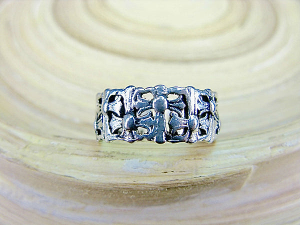 Cross Eternity 925 Sterling Silver Ring
