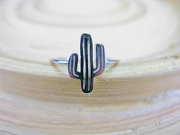 Cactus Ring 925 Sterling Silver