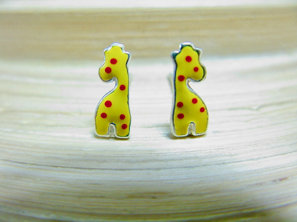 Giraffe 925 Sterling Silver Stud Earrings