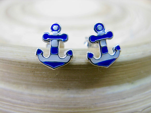 Anchor 925 Sterling Silver Earrings Stud