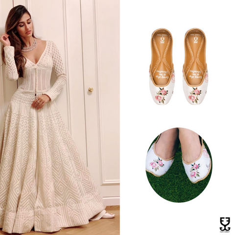 Disha Patani in BELLE'S ROSE - IVORY: PAYAL SINGHAL X FIZZY GOBLET