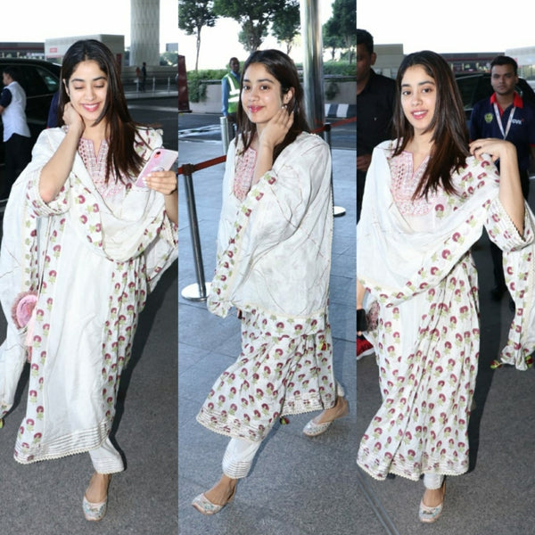 Janhvi Kapoor in PRETTY PEACOCK: PAYAL SINGHAL X FIZZY GOBLET