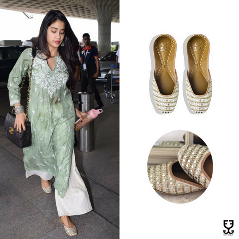 Jhanvi Kapoor in AISHA- IVORY & GOLD- LIMITED EDITION