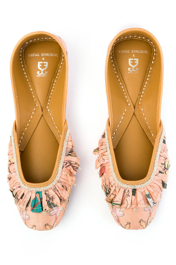 Peach Frosting : Juttis - Payal Singhal X Fizzy Goblet -  Juttis - Fizzy Goblet