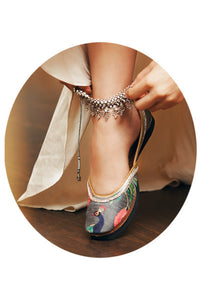 Shoes - Jootis - Dancing Peacocks: Payal Singhal X Fizzy Goblet