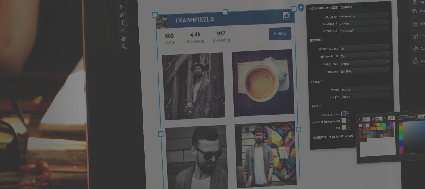A INSTAGRAM FEED WIDGET FOR MUSE