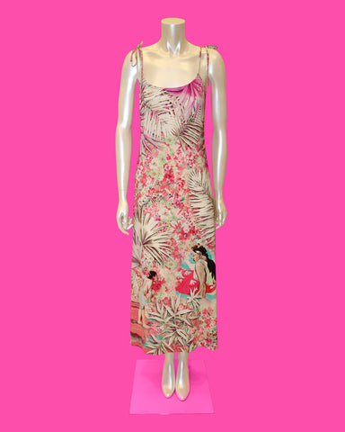 Blumarine - Paul Gauguin Hawaiian characters art dress
