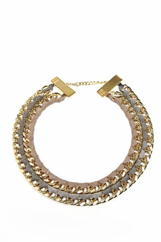 ByAlona TARA Double Necklace - Gold and Mink