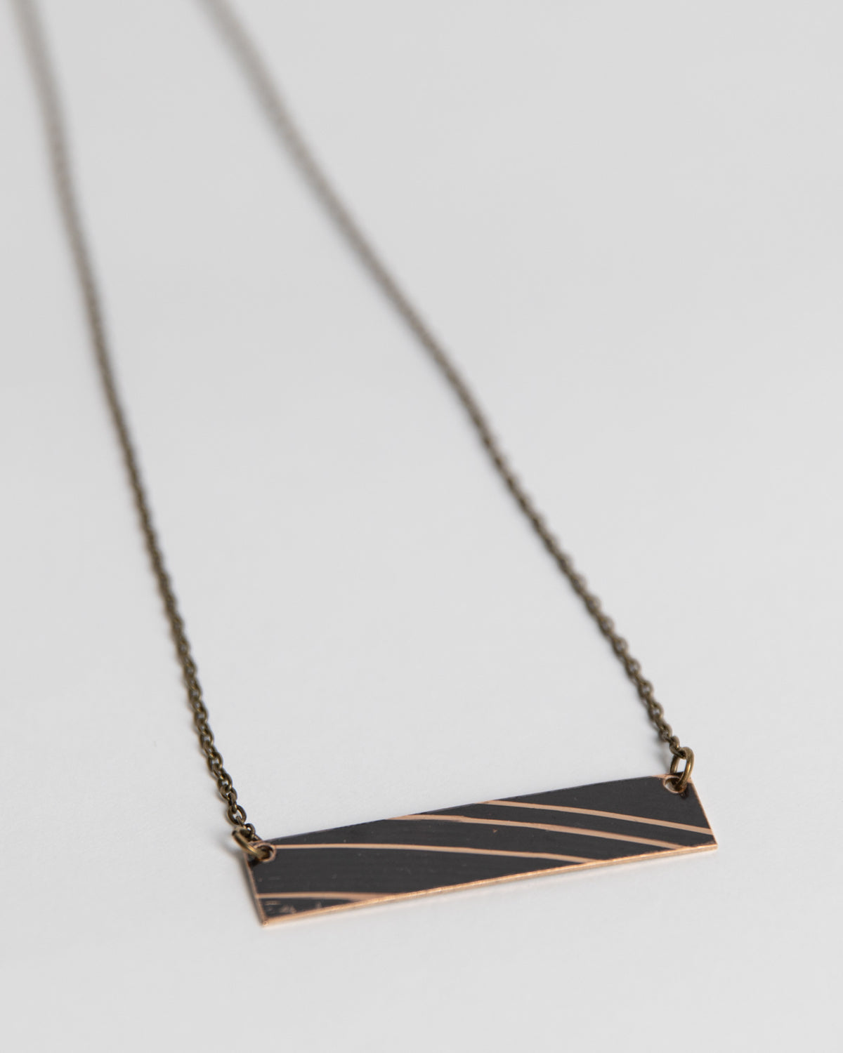 Dark Bar - Reclaimed Cymbal Necklace