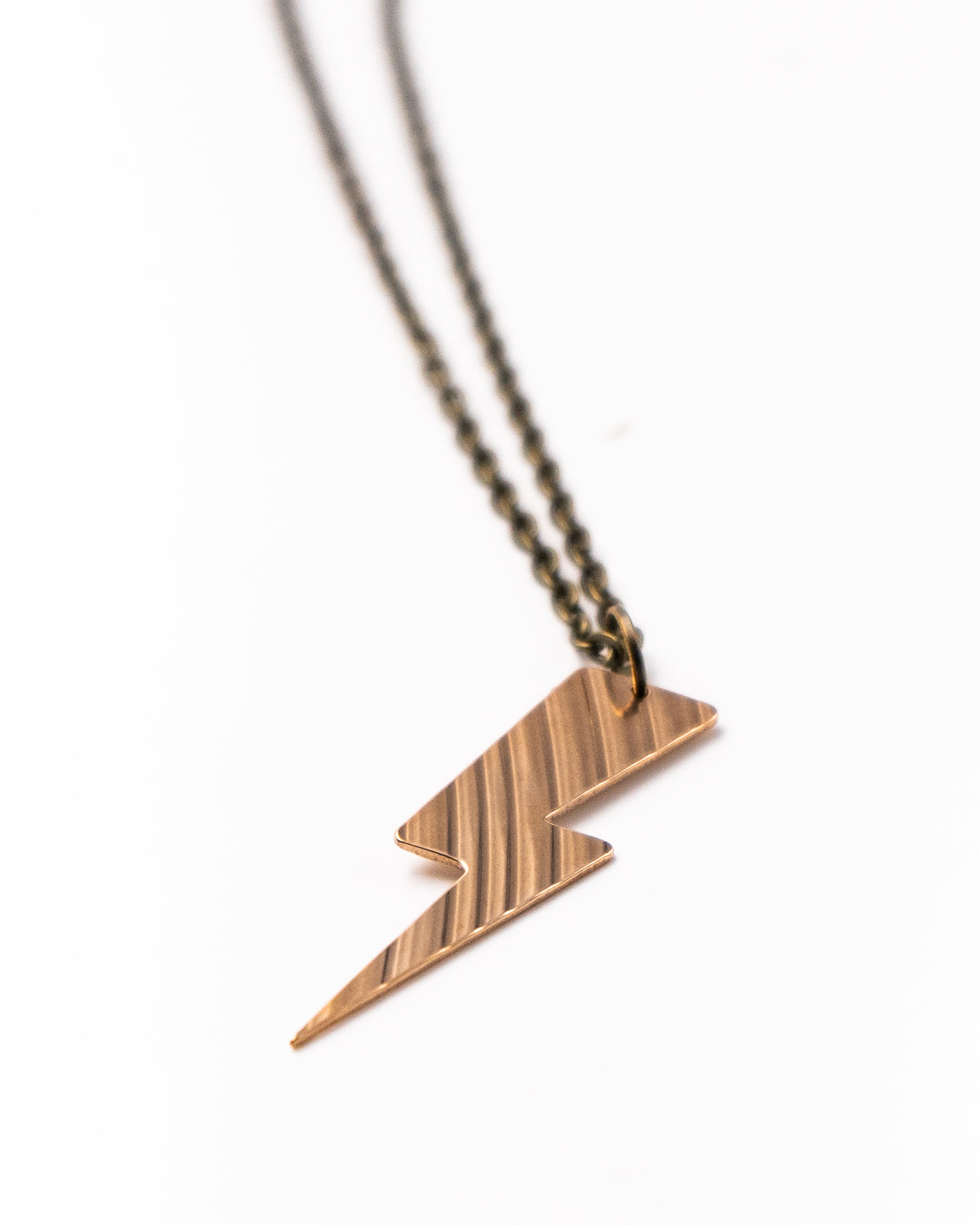 Bolt - Reclaimed Cymbal Necklace