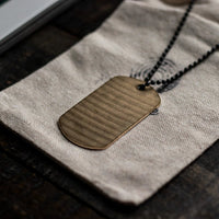 Load image into Gallery viewer, Dogtag - Reclaimed Cymbal Necklace