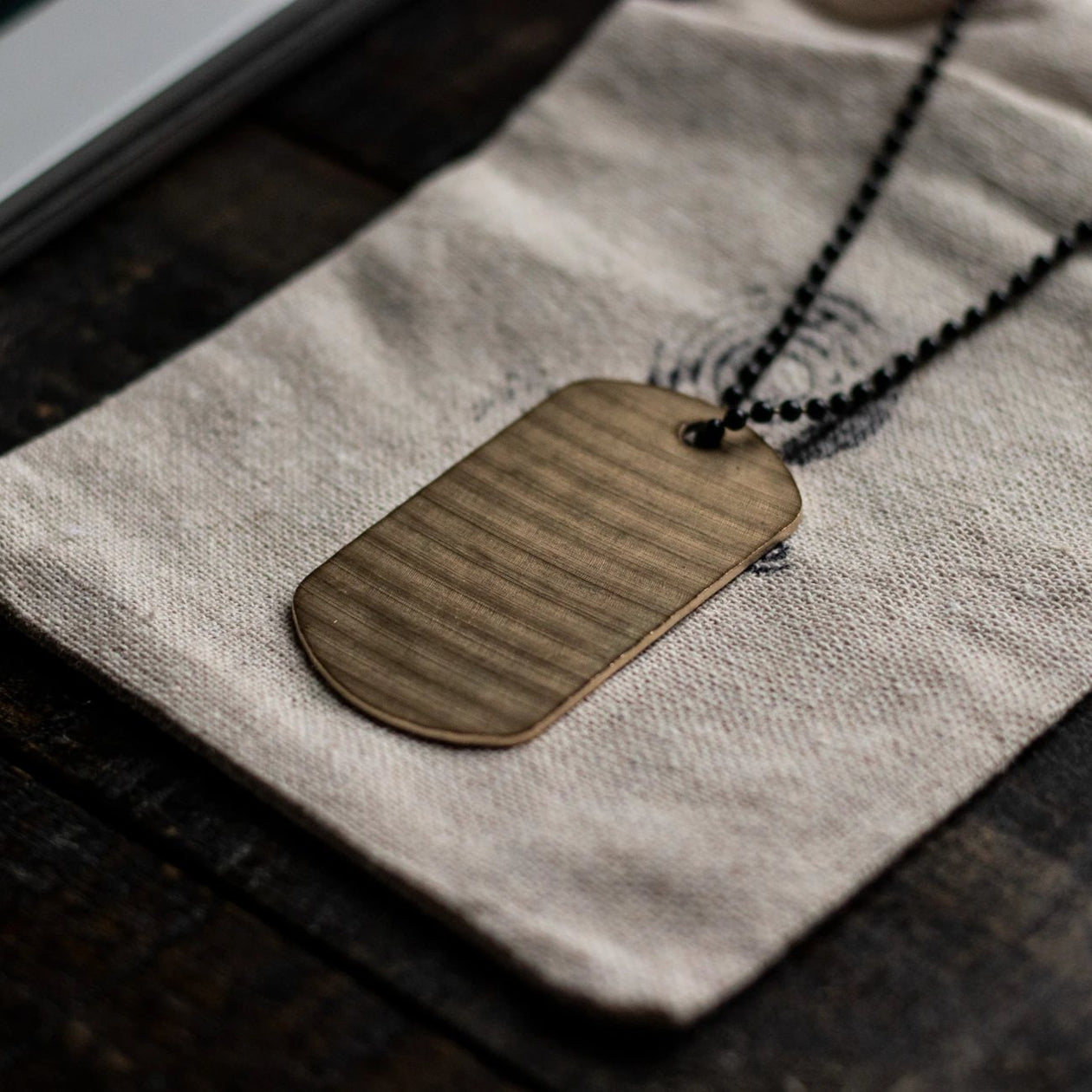 Dogtag - Reclaimed Cymbal Necklace