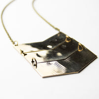 Load image into Gallery viewer, Chevron - Reclaimed Cymbal Necklace