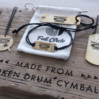 Load image into Gallery viewer, Drummer Girls United Drum Key - Reclaimed Cymbal Accessory