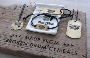 Drummer Girls United Drum Key - Reclaimed Cymbal Accessory