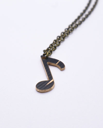 Dark Off Beat - Reclaimed Cymbal Necklace