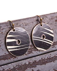 Dark Circle - Reclaimed Cymbal Earrings