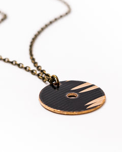 Dark Circle - Reclaimed Cymbal Necklace
