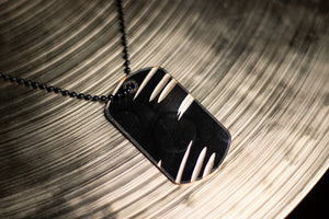 Dark Dogtag - Reclaimed Cymbal Necklace