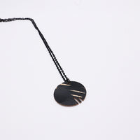 Load image into Gallery viewer, Dark Circle Edge - Reclaimed Cymbal Necklace